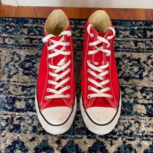 Red Converse All Star Sneakers
